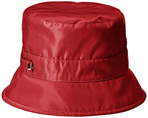 san-diego-hat-company-womens-nylon-rain-bucket-hat-with-functional-closure-red-one-size
