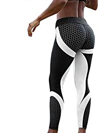 rokirs Mujer Casual Impreso Sporting Fitness Leggings Yoga Skinny Pantalones  Leggings b1a0ab91a4be