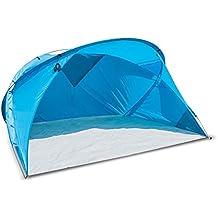 outdoorer Große XXL Strandmuschel Santorin Air, UV 80 Sonnenschutz, Kleines Packmaß, windstabil, Gute Qualität