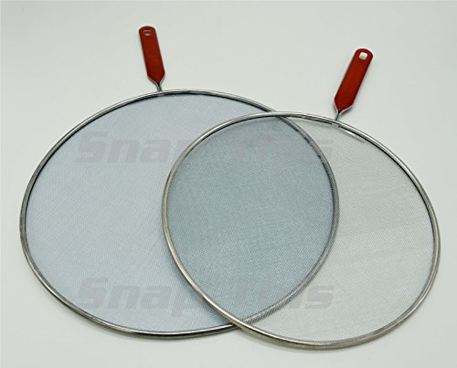 TekNoh - Anti Splatter Guard Set - 29cm & 25cm - Set Frying Pan Anti Splash Screen Cover Mesh Metal Wired