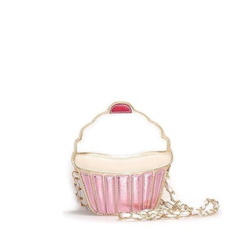VIVIESTA , Sac bandoulière pour femme - blanc - Motif cupcake,