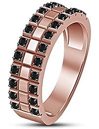8609fcdf08d6 Lilu Jewels Anillo de Compromiso de Boda para Mujer