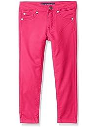 Tommy Hilfiger Girls' Five Pocket Stretch Sateen Pants