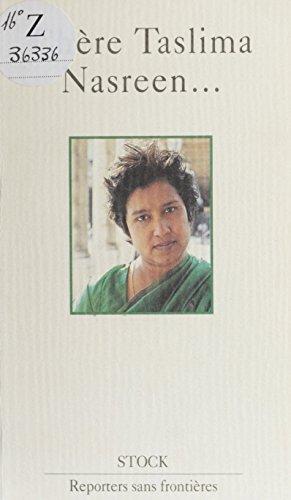 Chère Taslima Nasreen... (Reporters sans frontieres) par Reporters sans frontières