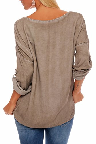 Malito Damen Bluse in Vielen Farben und Formen   Oberteile mit Verschiedenen Mustern