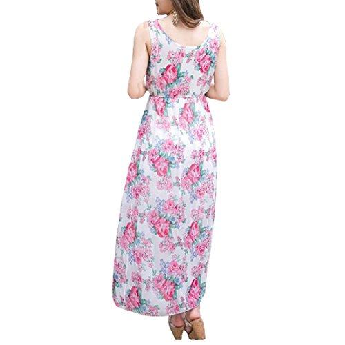 Partiss Bohême longues pour femme en mousseline de soie Rose - Rose
