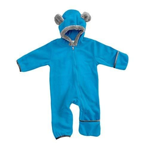 Kinder Club Kostüm - Funzies Fleece leichte Jacke - Winter Pyjama Oberbekleidung für Baby 3-6 monate Blauer Bär