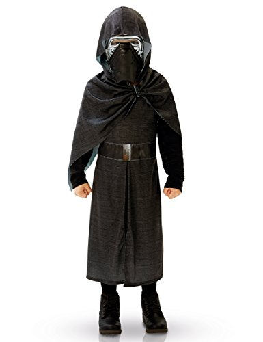 Kylo Ren Star Wars Deluxe Teenkostüm Lizenzware schwarz-silber 134/140 (9-10 Jahre) (Verrückte Star Wars Kostüme)