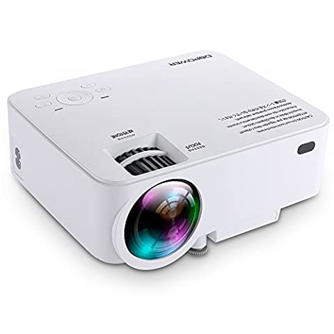 T20 1500 Lumen LCD Minibeamer, Multimedia Heimkino Video Projektor unterstützt 1080P HDMI USB SD Karte VGA AV für Heimkino TV Laptop Spiele iPhone Android Smartphone mit kostenlosem HDMI Kabel