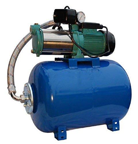 Pompa di Irrigazione Pompa da giardino per pozzi 1100W, 230V, 95L/min + Pallone Compressore 80L
