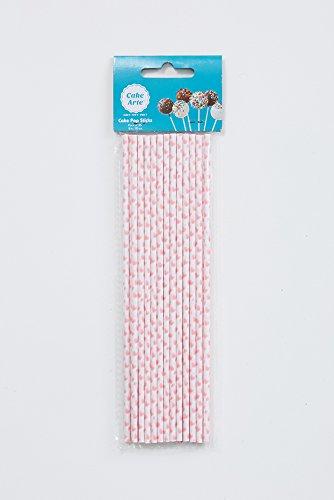 63,5x 20,3cm/20cm rosa Herzen Cake Pops Sticks groß Fancy Kuchen dekorieren Papier - Shower Pops Baby Cake