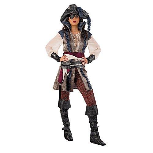 Limit da166TL Pirat Corsair Mädchen Kostüme (groß) (Mädchen Knöpfe Und Zieht)