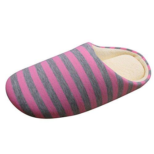 Righe E Uomini Pistoni Inverno Scarpe Dintérieur Pantofole Rosa Donne A Caldo Antisdrucciolevoli PFwgqdxCFn