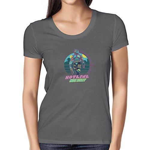 TEXLAB - Hotline Mos Eisley - Damen T-Shirt, Größe L, (Miami 2 Hotline Kostüm)