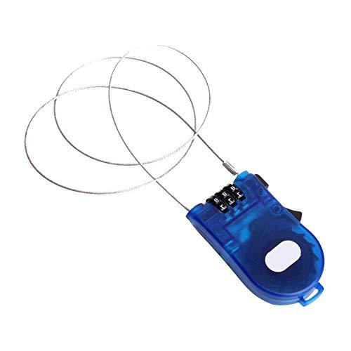 AAGOOD 3 pies de Cable retráctil cerraduras de Bloqueo de Cable retráctil de Cable de Seguridad contraseña...