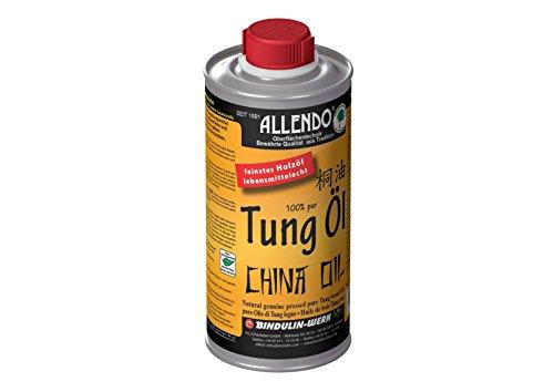 Aceite de tung, aceite de madera, producto natural biológico, inalterable por comestibles