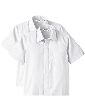 Trutex - 2PK SS Non Iron Shirt, Short sleeve per bambini e ragazzi