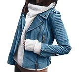 Legendaryman Frühling Herbst Damen Lederjacke Mode Outerwear Kurz Mantel Tops Blazer Oberbekleidung Blouse Freizeit Langarm Mäntel Jacke Oberteile Coat Jacket
