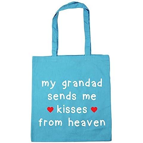 HippoWarehouse My Abuelo me manda kisses de cielo Bolsa De Compras Gym Bolso De Playa 42cm x38cm, 10 litros