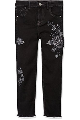 RED WAGON Girl's Embroidered Jeans, Black, 7 Years