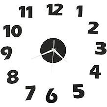 Forepin® DIY Grande Orologio Da Parete Adesivo 3D Stickers Orologio Da Parete con Numeri arabi (Elettronico Digitale Scala In Vetro)