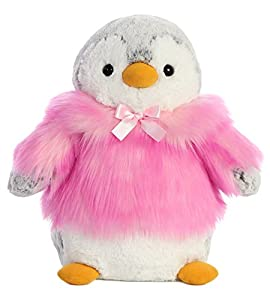 Aurora Pompom Pingüino Chaqueta Rosa 28cm Peluche, Color Blanco (74045