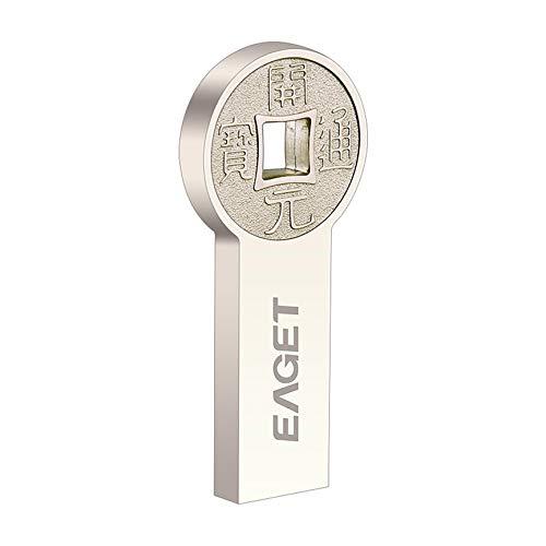 Peanutaoc K80 USB3.0 Flash Drive Mode-Rund Antike Münzen Metall Pendrive wasserdichte USB-Stick 16GB 32GB 64GB Speicher U Disk - Runde Antik