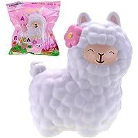 "VLAMPO Squishy Giocattoli Squishies Soft Slow Rising Profumato Alpaca 6.5 ""1 pezzo (Bianca)"