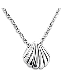 Sterling Silver Seashell Necklace - Tiny/Discreet (45cm)