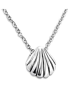 Katy Craig Halskette mit kleinem Anhänger, Motiv: Muschel, Sterling-Silber 925, 45cm