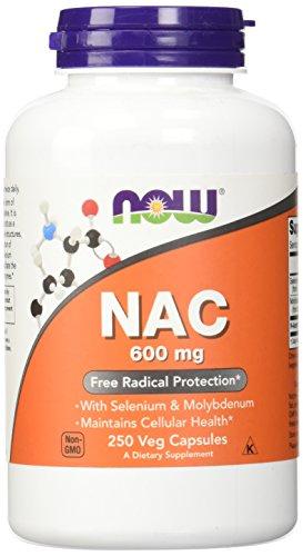 Now Foods, NAC (N-Acetyl Cysteine), 600mg, 250 Veg. Kapseln