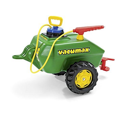 *Rolly Toys 122868 Anhänger Tanker Vacumax, befüllbar, inklusive Pumpe mit Spritze und Auslaufhahn (max. Befüllung 15L, Gewicht Leer 2,7 kg, Farbe: Grün)*