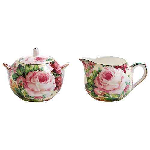 Maxwell & Williams Royal Old England Milch/Zucker-Set, Porzellan, Mehrfarbig, 10.2 x 14.8 x 23.2 cm, 2-Einheiten
