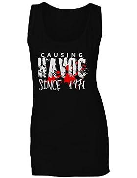 Causando el estrago desde 1971 Divertido camiseta sin mangas mujer jj19ft