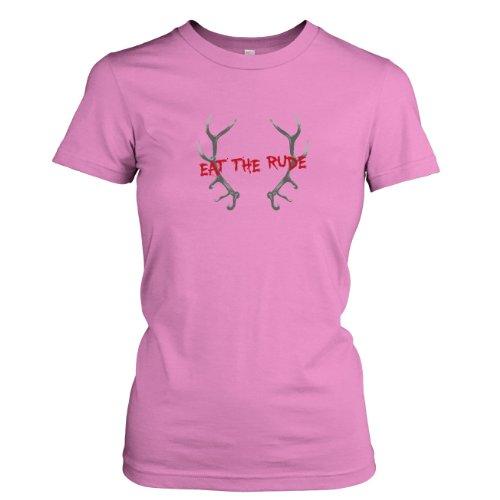 TEXLAB - Eat The Rude - Damen T-Shirt Rosa