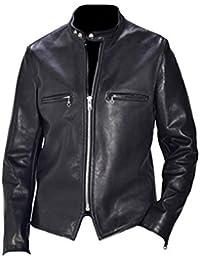 Classyak Vintage Negro Racer – Camiseta de vaca con una chaqueta ...