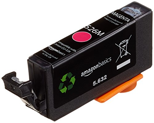 AmazonBasics - Wiederaufbereitete Tintenkartusche für Canon CLI-526, Magenta