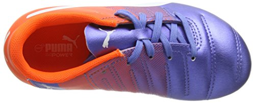 Puma Unisex-Kinder Evopower 4.3 Fg Jr Fußballschuhe Mehrfarbig (Blue Yonder-puma White-SHOCKING Orange 03)