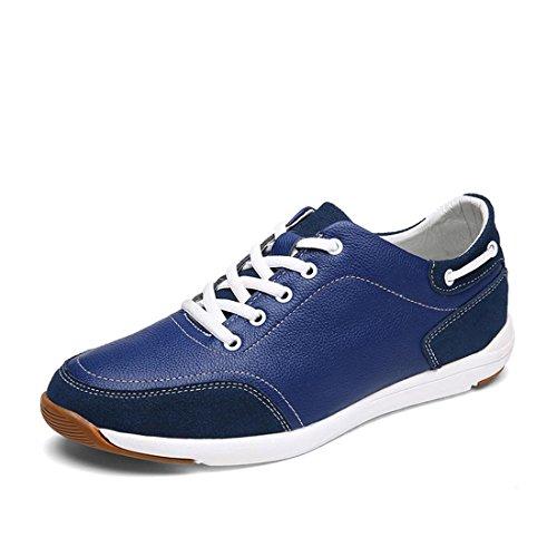 Uomo traspirante Tempo libero Scarpe di pelle Moda Ballerine Scarpe sportive Scarpe casual Leggero Confortevole euro DIMENSIONE 39-44 Blue