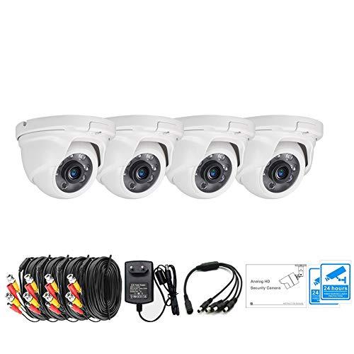 Tonton 1080P Überwachungskamera Set 3.6mm 80ft IR Nachtsicht 1080P TVI Full HD CCTV Außenkamera, Video Überwachungskamera mit Zubehör, Add on Kamera Metallgehäuse NUR für TVI, AHD, 5/4-in-1 Recorder Cctv-kamera