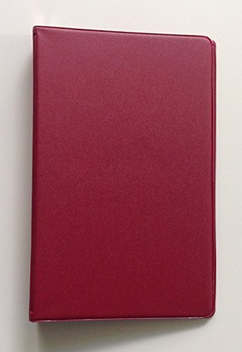 Mead attestiert klein 6-Ring-rot Vinyl loseblattwerken Memo Notebook mit 6-3/4x 3-3/4-Zoll liniertes Papier (40Blatt) (Mead Notebook Binder)