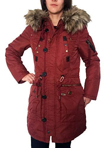 khujo Halle Damen Parka Winterjacke Jacke in Rusty rot (L)