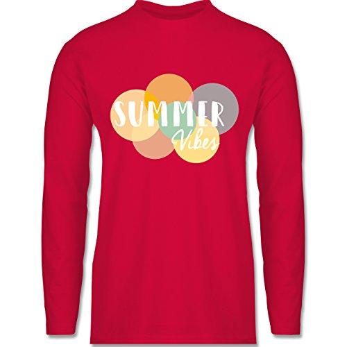 Shirtracer Statement Shirts - Summer Vibes - Herren Langarmshirt Rot
