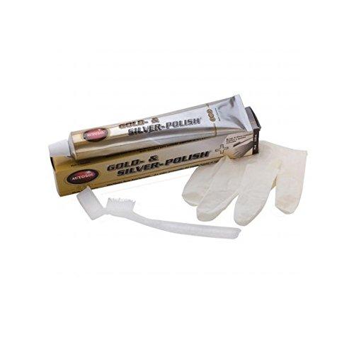 Autosol 01 001053 Gold- und Silberpolitur mit Bürste und Handschuh, 75 ml -