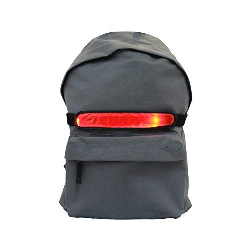iQualTech Rucksack LED Fahrradlicht - Universal-Fit für alle Rucksacktypen