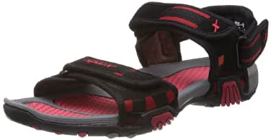 Sparx Men's Black and Red Athletic & Outdoor Sandals - 10 UK (SS-428)