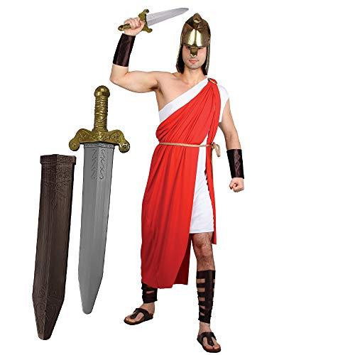 ILOVEFANCYDRESS Gladiatoren RÖMER KÄMPFER MIT Schwert VARIATIONEN KOSTÜME XLarge VERKLEIDUNG = FÜR Film FERNSEH Themen Fasching Karneval Krieger Party