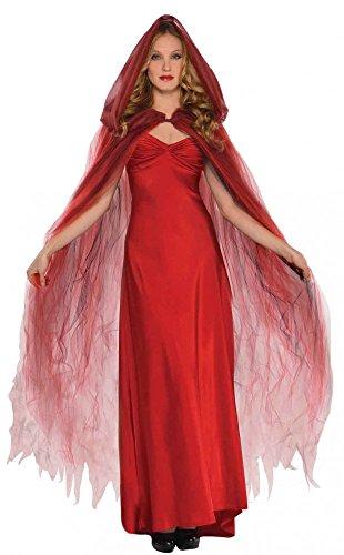 shoperama Tüll Umhang mit Kapuze Zubehör für Halloween-Kostüm -