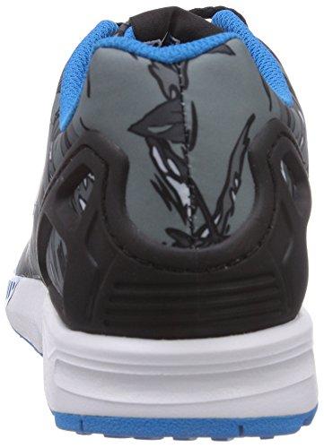 Adidas M19397, Chaussures de Running Garçon Multicolore (Cblack/Ftwwht/Solblu)