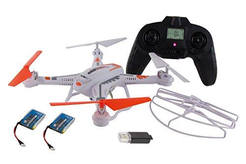 XciteRC Quadrocopter Rocket 260 3D - Sonderedition - 20 Min. Flugzeit, 2 Akkus, 720p HD-Kamera, 4 GB microSD-Speicherkarte, Coming-Home, Headless (Rocket Drohne)
